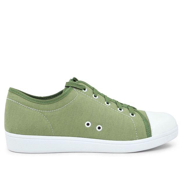 Tênis cadarço verde 34