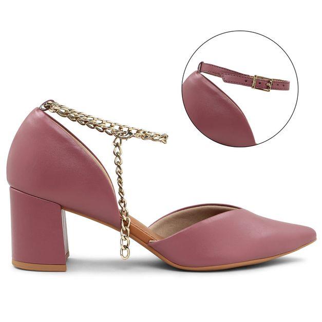 Scarpin lilás açaí com tornozeleira personalizável 34