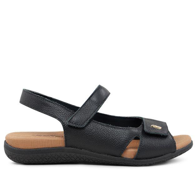 Sandália ajustes com velcro preto 33