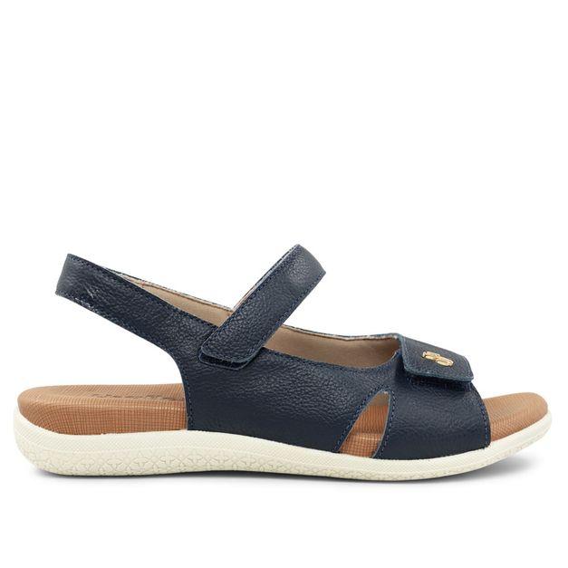 Sandália ajustes com velcro azul new blue 33