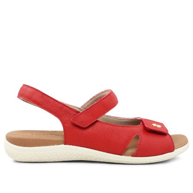 Sandália ajustes com velcro vermelho carmim 33