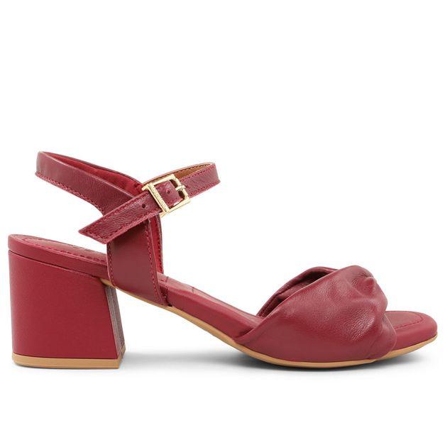 Sandália pelica vermelho rebu 33