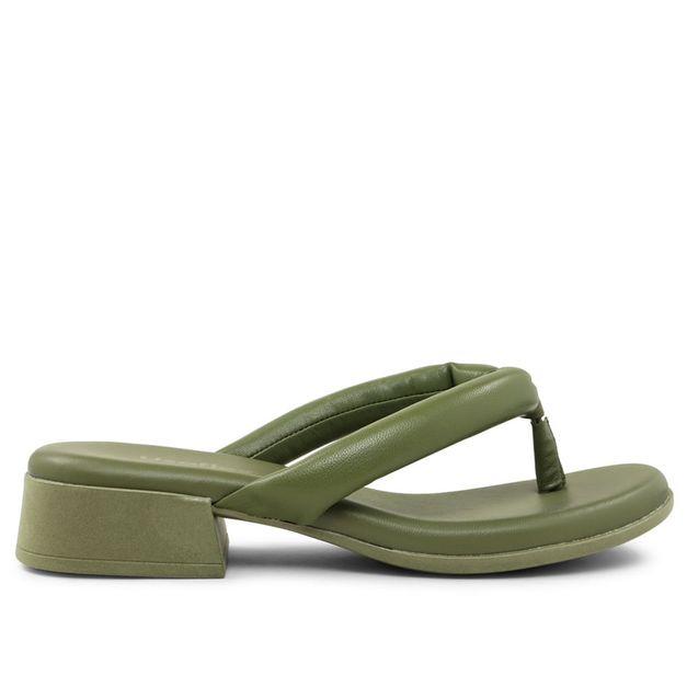Chinelo em pelica verde militar 33