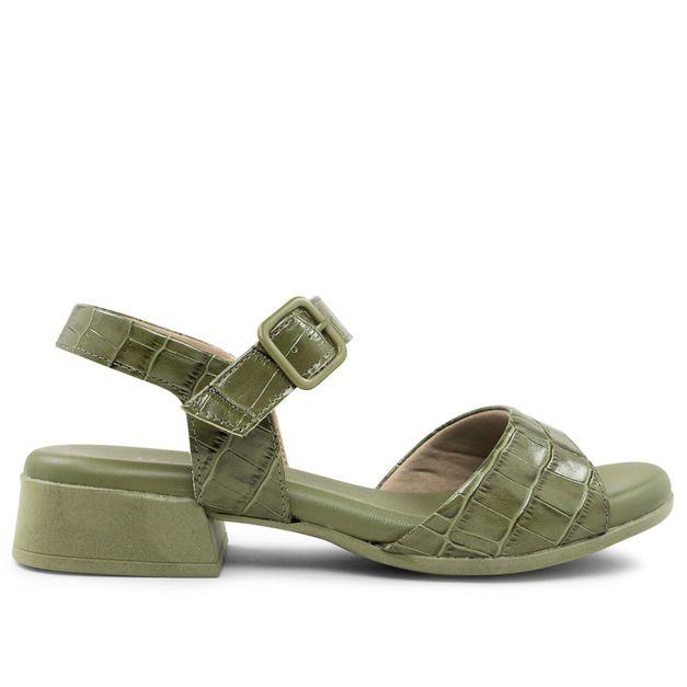 Sandália croco verde militar 33