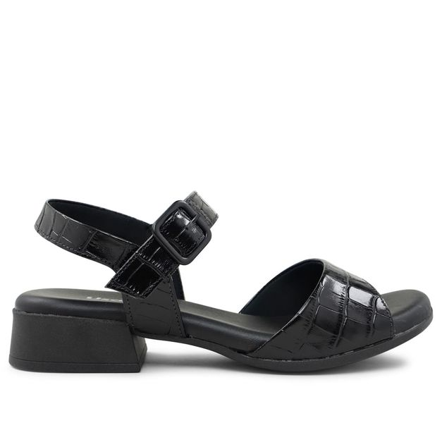 Sandália croco preto 33