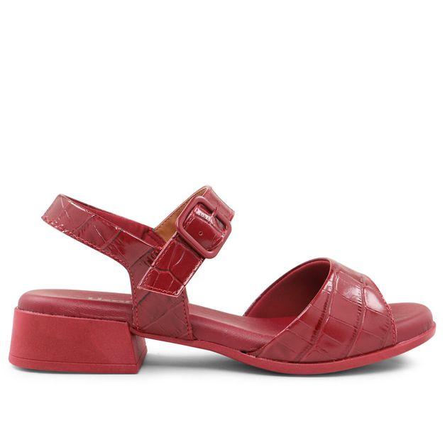 Sandália croco vermelho rebu 33