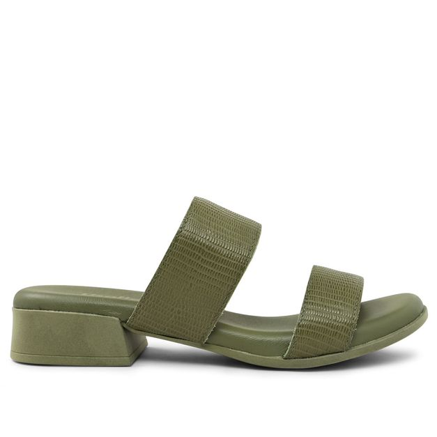 Tamanco iguana verde militar 33
