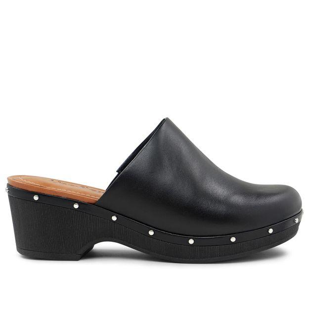 Clog preto com tachinhas 35