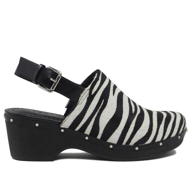 Clog zebra com tira calcanhar 35