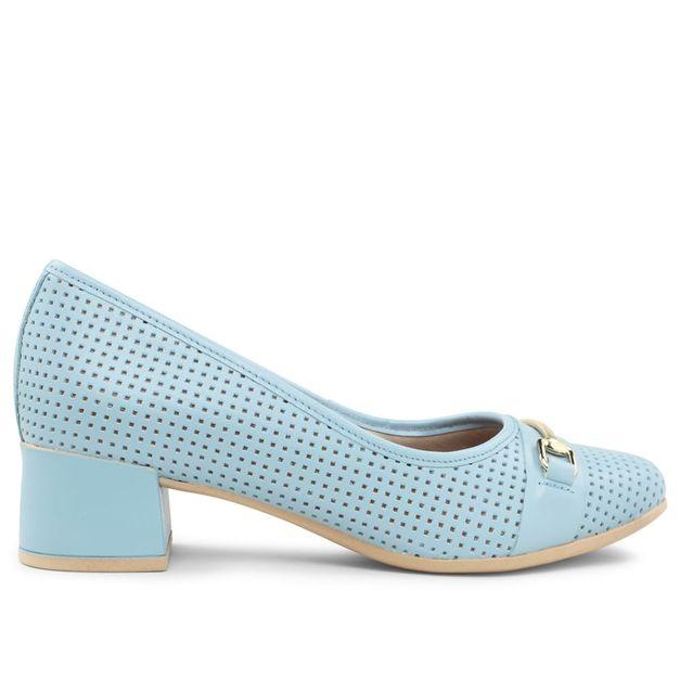 Scarpin azul claro com fivela 33