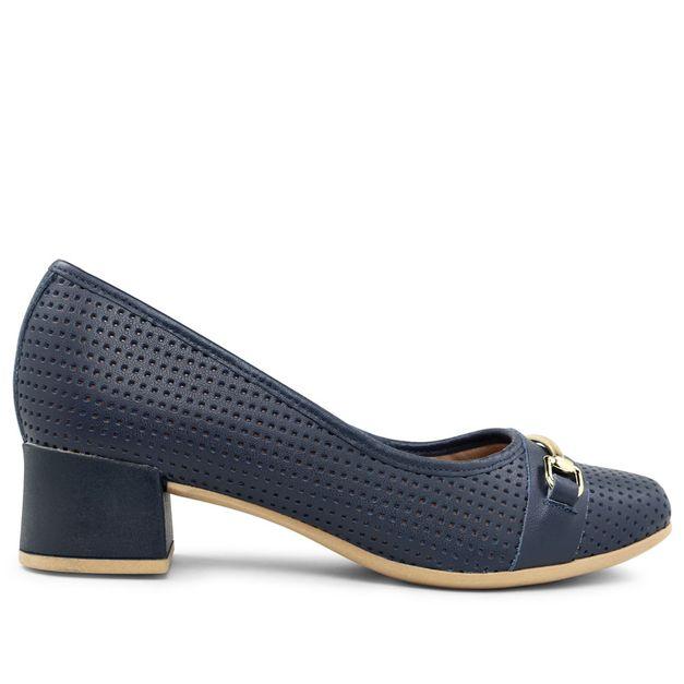 Scarpin azul new blue com fivela 34