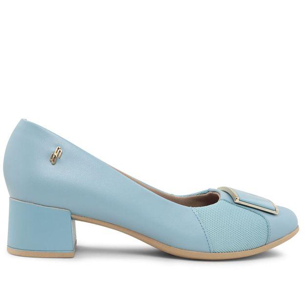 Scarpin azul claro com enfeite pintado 33