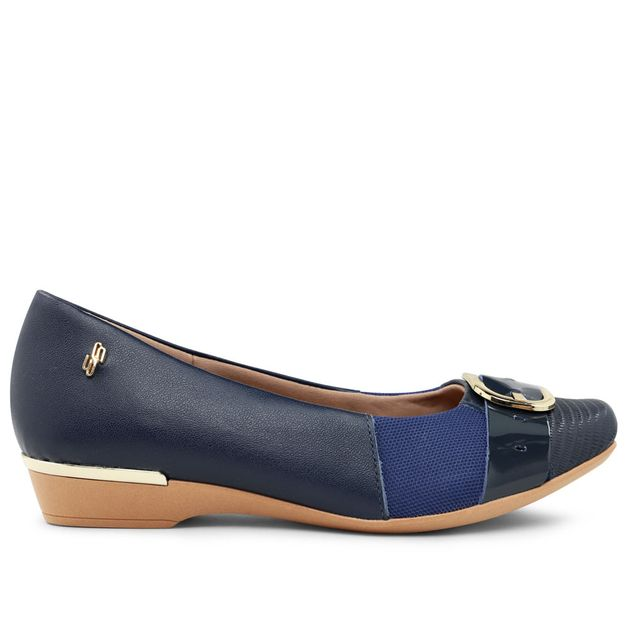 Sapatilha azul com fivela 33