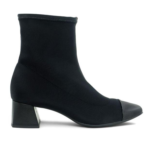 Bota em elastano preto 34