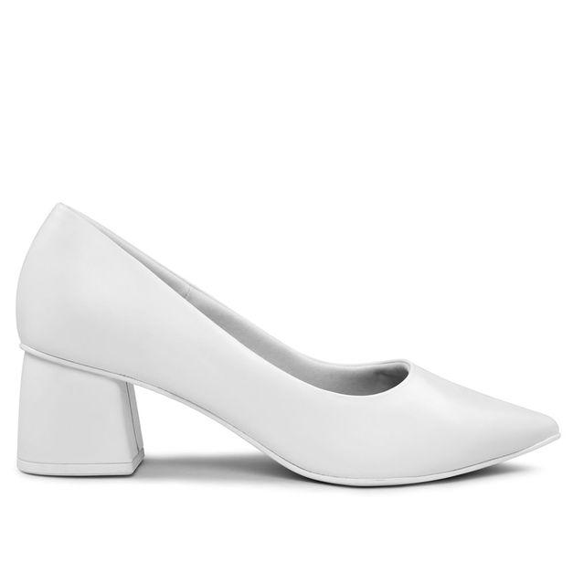 Scarpin branco bico fino RIGHT(P80,2)