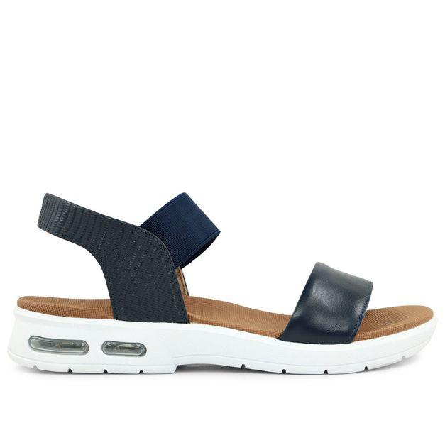 Sandália com elástico azul new blue 33