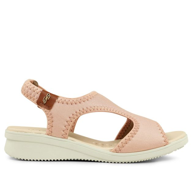 Sandália elastano rosa quarzto 33