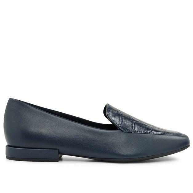 Slipper azul new blue com croco 33