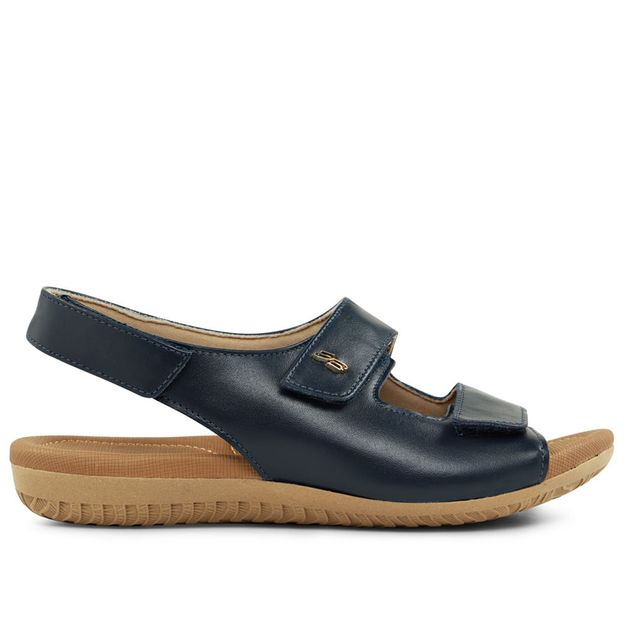 Sandália ajustes velcro azul new blue 33