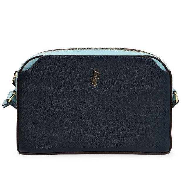 Bolsa tiracolo bicolor azul