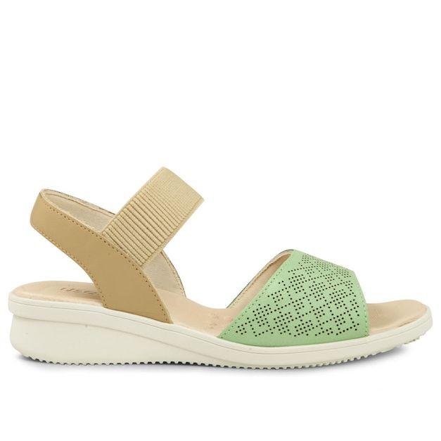 Sandália verde menta com blush 33