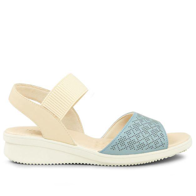 Sandália azul claro com vanilla 33