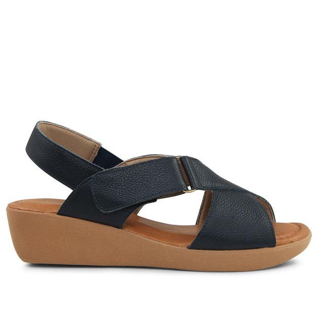 Sandália azul com velcro 33