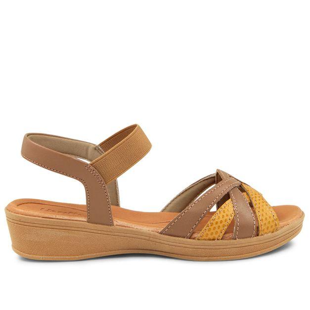 Sandália marrom com mel 33