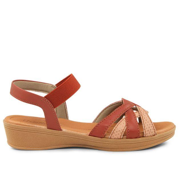 Sandália rosa com vermelho 33