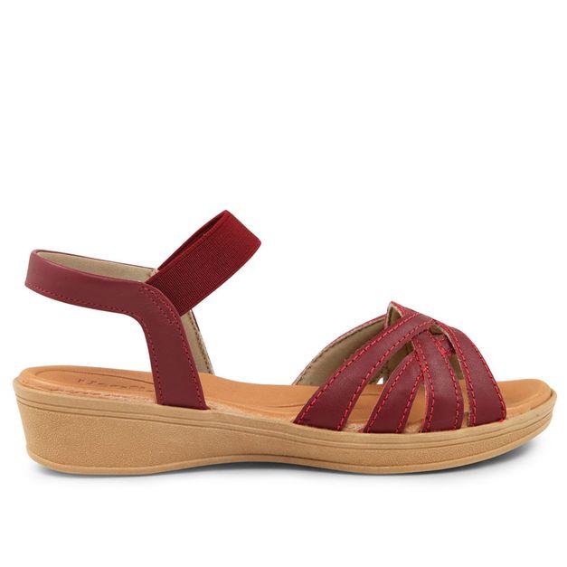 Sandália vermelho rebu 33