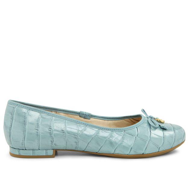 Sapatilha croco azul claro 33