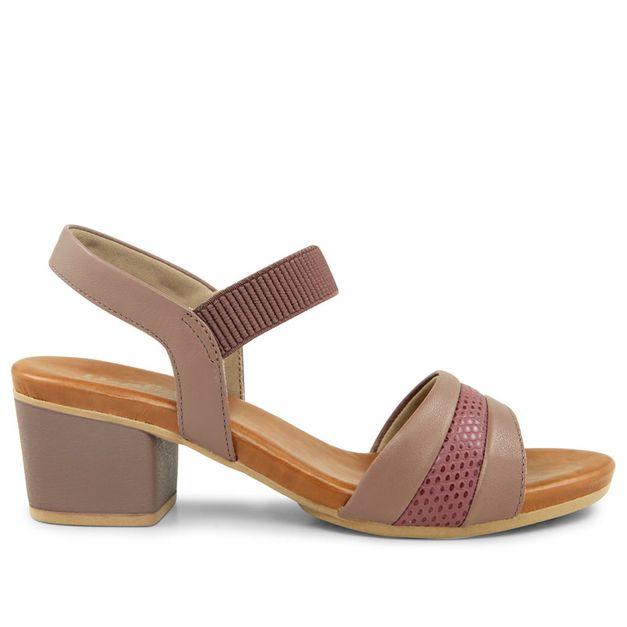 Sandália escamado lilás salto médio 33