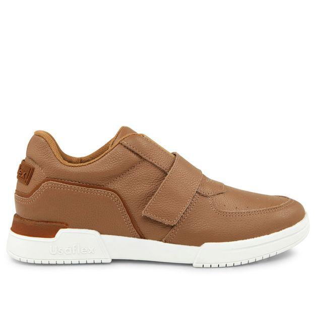 Sneaker marrom camel com velcro 33